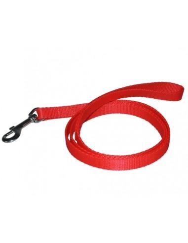 CHABA Smycz taśma - 16mm czerwona